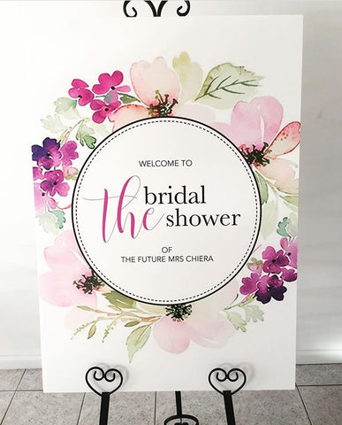 A Welcome Board - The Bridal Shower
