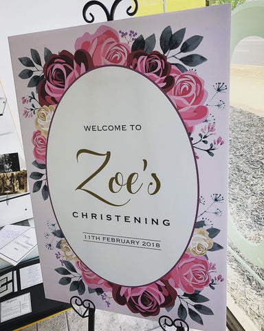 Welcome to Zoe's Christening