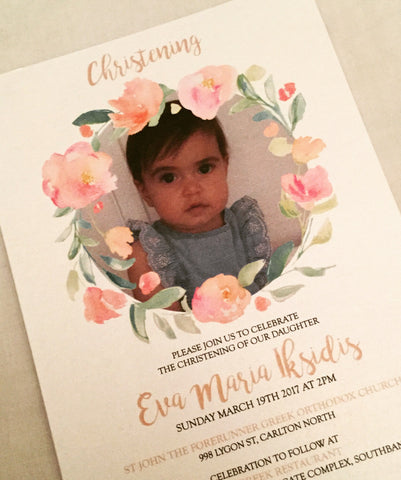 Christening invitation for girl