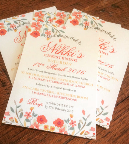 Nikki's Christening Invitations