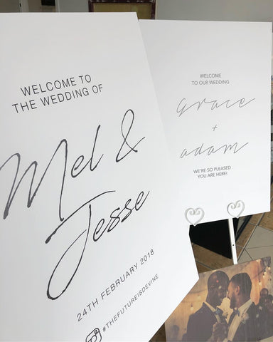 1B.  Welcome Board - Modern Script
