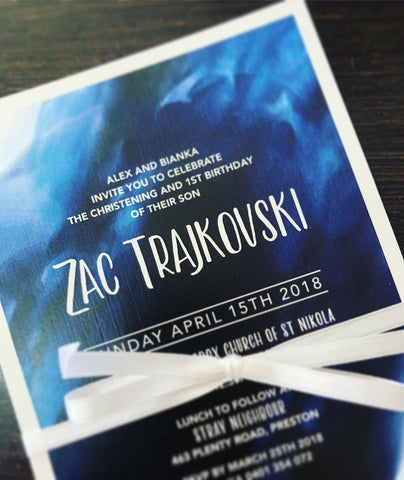Zac's Christening Invitation