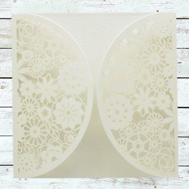 Laser Cut Floral Love Wrap - Ivory