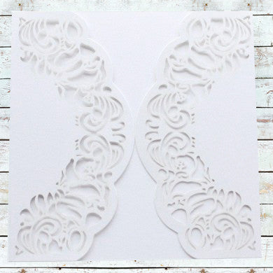Laser Cut Lace Love Wrap - White