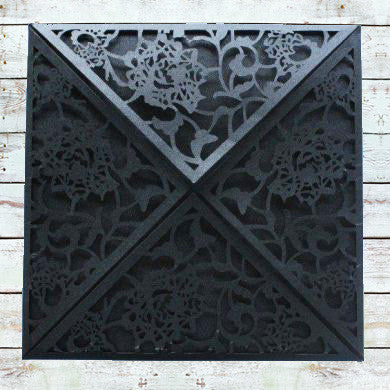 Laser Cut Triangular Swirls - Black