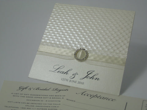 1V - Leah's Embossed Invitation