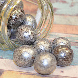 Love Pearl Metallic Chocolate Macadamia Silver