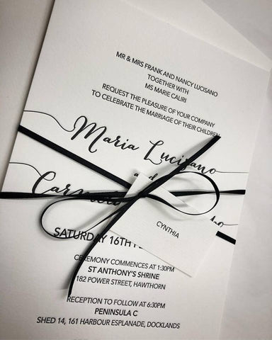 1h.  Maria - Letterpress Invitation