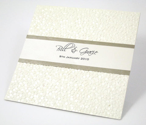 1J - Pebble Embossed - Wedding Invitation
