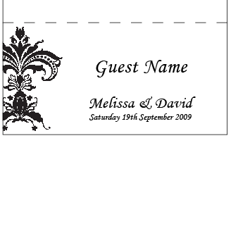 Formal Damask - Placecard