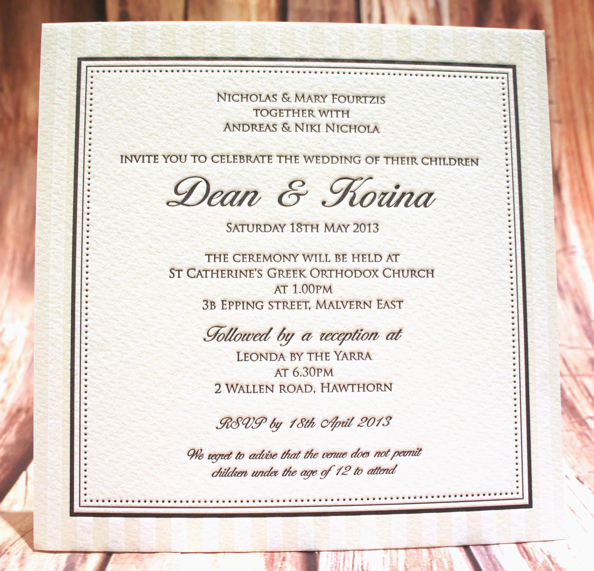 Pressed with Love - Wedding Invitation