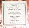 1O.  Pressed with Love - Wedding Invitation