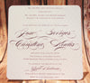 Quilted Luxury - Wedding Invitation