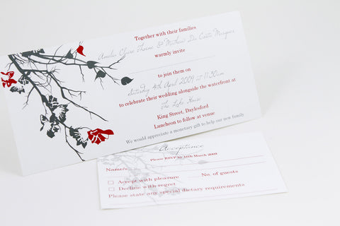 Red Leaves - Wedding Invitation