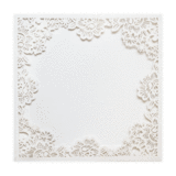 Floral Laser Cut Frame Pocket