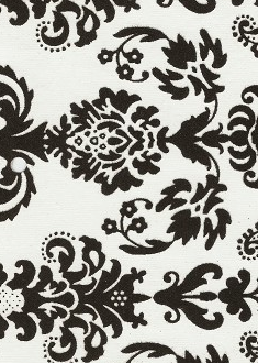 Black Flocked Damask On White 120gsm A4 Paper