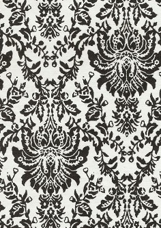 Black Flocked Damask 120gsm A4 Paper