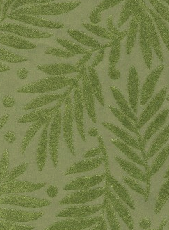Flocked Olive Green Leaves 120gsm A4 Paper