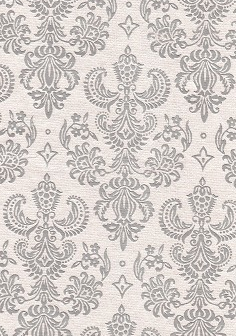 Damask Foils Silver On Pearl 100gsm A4 Paper