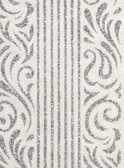 Serenity White Pearl Silver Glitter 150gsm A4 Paper