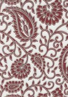 Chiffon Paisley Red 120gsm A4 Paper