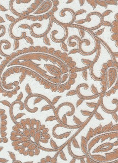 Paisley Gold Glitters On White 70gsm A4 Paper