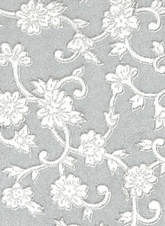 Floral Daisy Silver Glitters On Grey Blue 70gsm A4 Paper