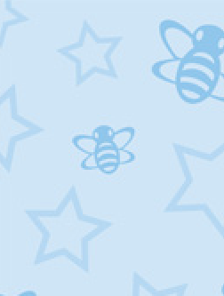 Baby Blue Bumblebees 120gsm A4 Paper