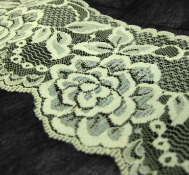 Ivory Rose 80mm Width Lace Trim