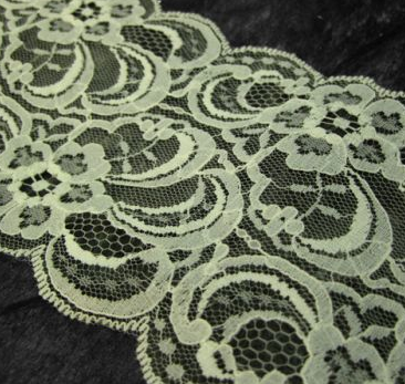 Ivory Scallop 95mm Width Lace Trim