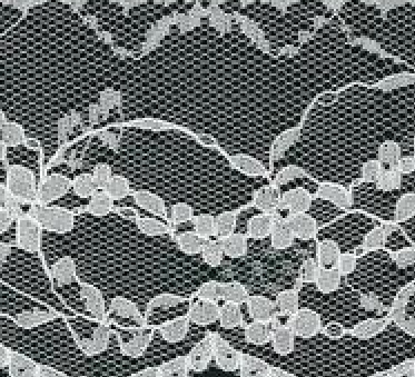 White Floral Swirls 60mm Width Lace Trim