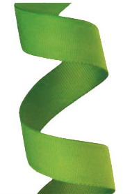 Gros Grain Lime Green Ribbon