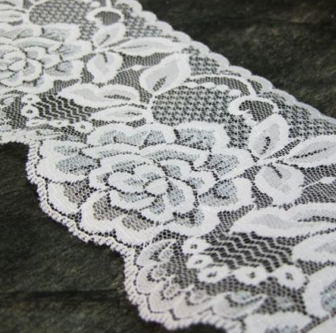 White Rose 80mm Width Lace Trim