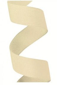 Gros Grain Ivory Ribbon