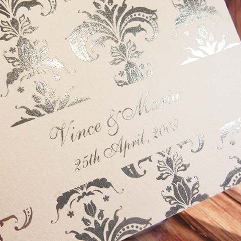 Wedding invitations invites design cards online australia melbourne romanza foil invitation stopboris Gallery