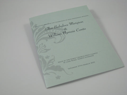 Silver Damask - Hymn Booklet