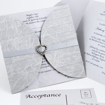 Silver Love Wrap - Wedding Invitation