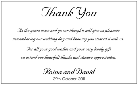Classic Black Ribbons - Thank You Card
