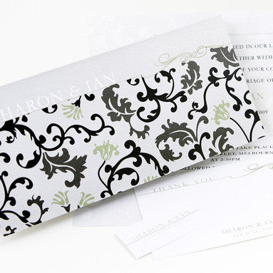 Versaille Black & Green - Wedding Invitation
