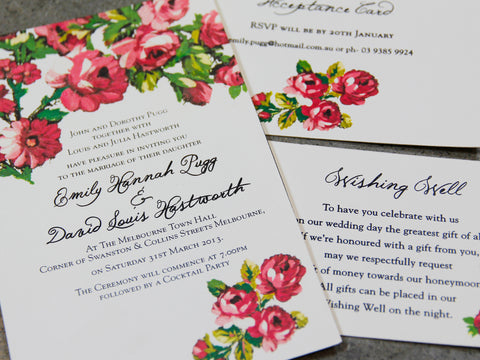 1G. Wedding in Eden Invitation
