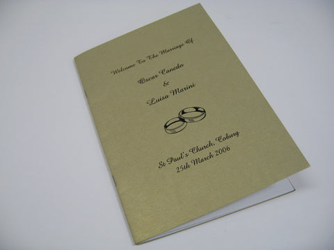 Wedding Band - Hymn Booklet