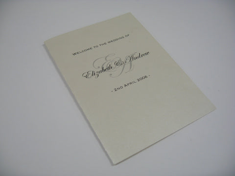 Welcome to Our Wedding - Hymn Booklet