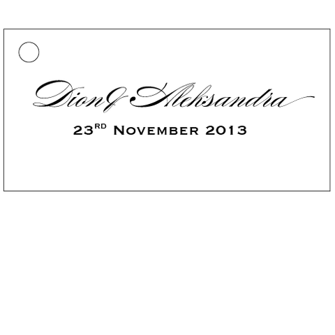 Embossed White Wedding - Bonbonniere Tag