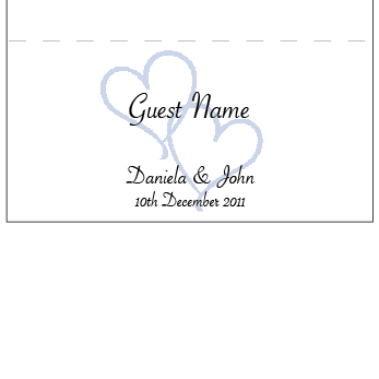 Love's in the Air - Placecard