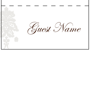 Damask Mink Pocket - Placecard