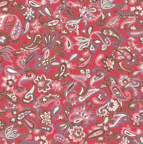 Chiyogami Red Paisley 70gsm A4 Paper
