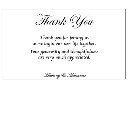 Silver Love Wrap - Thank You Card