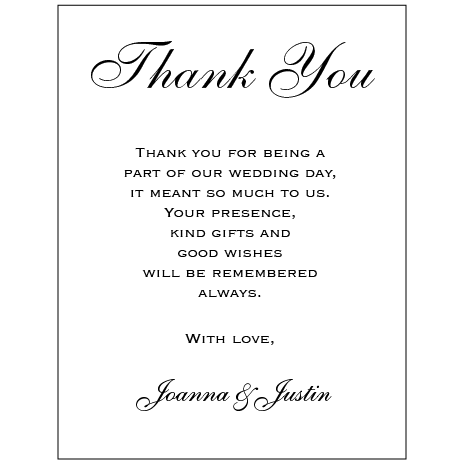 Glitter Prin - Thank You Card