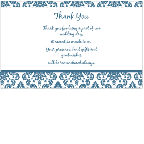 Damask Elegance - Thank You Card