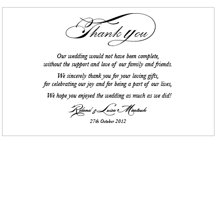 Quartz Deco - Thank You Card